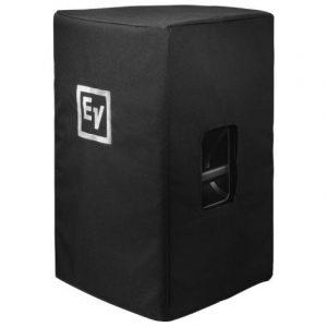 Black Speaker Cover with Padding and EV Logo for EKX15 Speaker