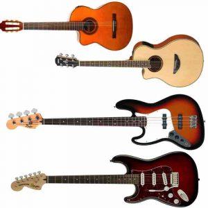Left Handed Guitars & Basses