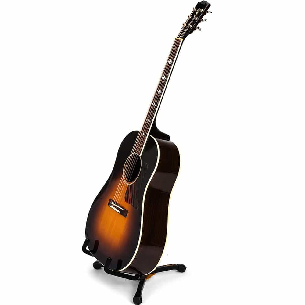 hercules gs401bb acoustic guitar stand mini with carry bag bashs music. Black Bedroom Furniture Sets. Home Design Ideas