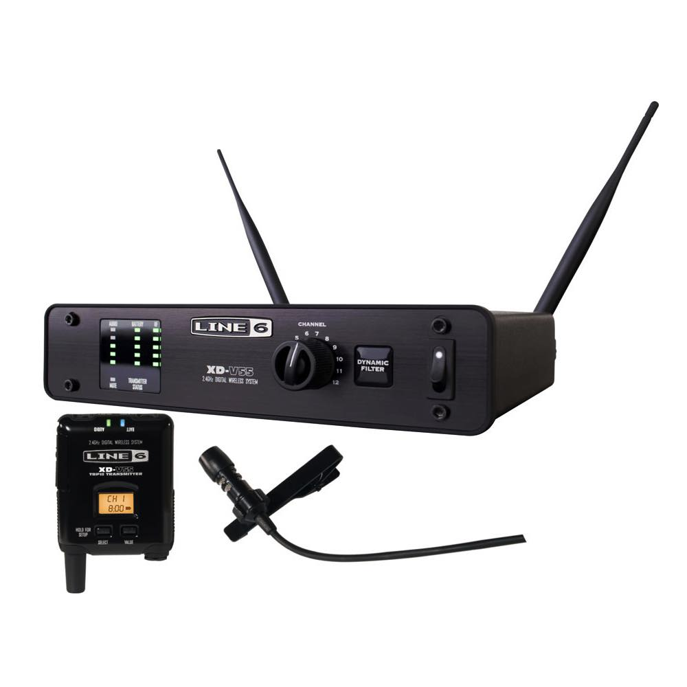 line 6 xd v55l lavalier digital microphone wireless system bashs music. Black Bedroom Furniture Sets. Home Design Ideas