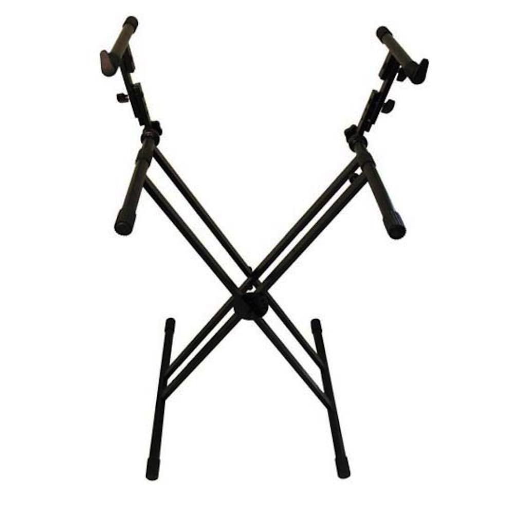 Spectrum Keyboard Stand Double Braced Frame Two-Tier For 2 Keyboards ...