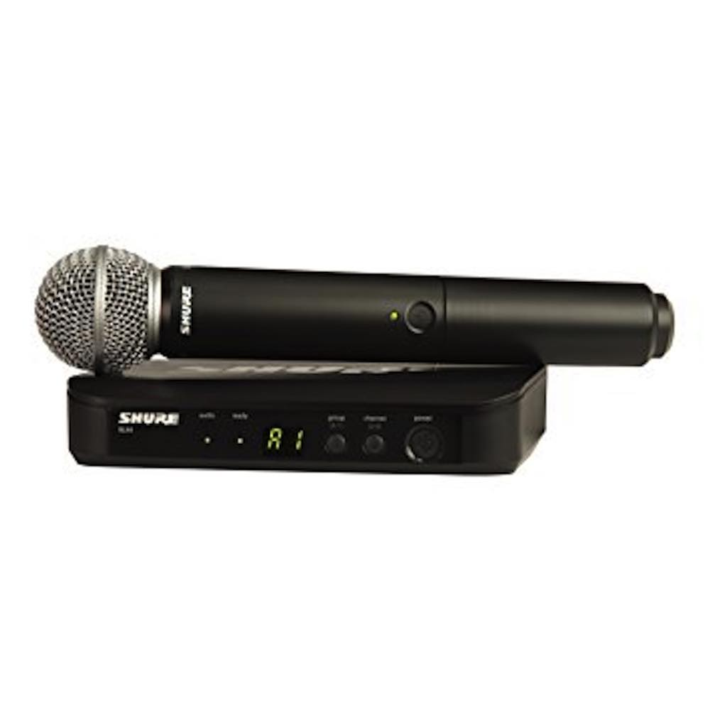 shure blx24 sm58 handheld cordless wireless microphone system bashs music. Black Bedroom Furniture Sets. Home Design Ideas