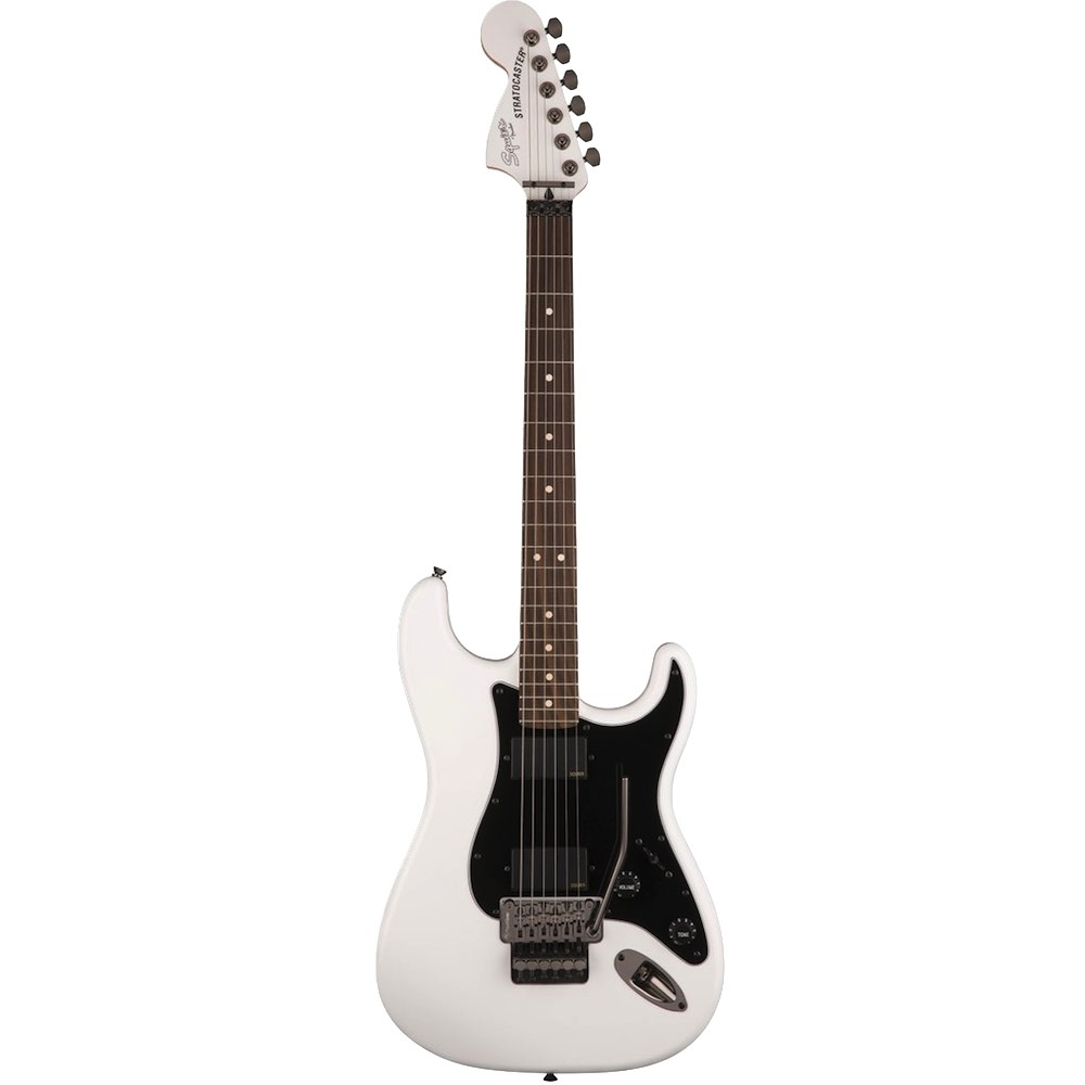 Fender Locking Tuners >> Squier Contemporary Active Stratocaster Floyd Rose HH RW Olympic White | Bashs Music